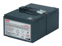 APC Replacement Battery Cartridge #6 - UPS-batteri - 1 x Bly-syra - svart - för P/N: SMC1500I-2UC, SMC1500IC, SMC1500TW, SMT1000C, SMT1000I-AR, SMT1000IC, SUA1000ICH-45 RBC6