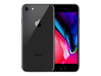 "Apple iPhone 8 - Smartphone - 4G LTE Advanced - 64 GB - GSM - 4.7"" - 1334 x 750 pixlar (326 ppi) - Retina HD - 12 MP (7 MP främre kamera) - rymdgrå MQ6G2QN/A"